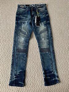 NWT Boy's LR Scoop MRD80 Vintage Blue Moto Leg Stretch Skinny Jeans SIZES 4 & 5