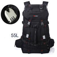55L Men's Sports Backpacks Camping Packs travel Hiking Bags Rucksack Waterproof