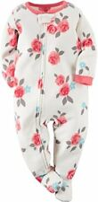 Carter's Girl's 5T Fleece Rose Blanket Pajama Footed Sleeper, Footie