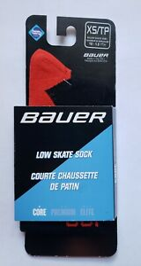 Bauer Black Low Skate Hockey Socks Size Youth XS/TP Compression Performance Sock