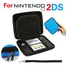 BLUE- Carry Storage Hard Protective Case Cover For Nintendo 2DS Game With Zip