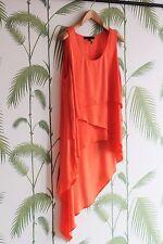 BCBGMaxazria Ladies Orange Drapy Top - Used - Large Size