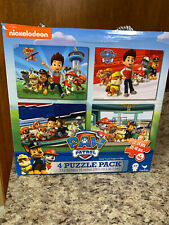 Nickelodeon Cardinal Ind Paw Patrol 4 Puzzle Pack 24 Piece 48 Piece Puzzles T7