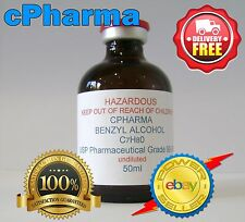 BENZYL ALCOHOL USP 99.9% PHARMACEUTICAL GRADE 25ml ( UNDILUTED )