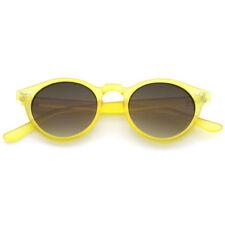 Lunettes de soleil jaune plastique rond pour femme