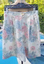 Vintage 80's Sag Harbor Size 12 Poly Blend High Waist Floral Shorts