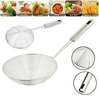 Stainless Steel Spider Strainer French Fries Strainer Cooking Colander Skimmer .