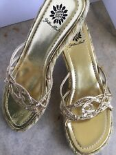 fb9fac25be877 Yellow Box Slides Medium (B, M) Width Sandals for Women for sale | eBay
