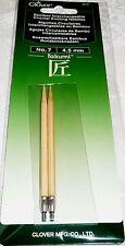 Clover Takumi Bamboo Interchangeable Circular Knitting Needles No. 7 - 4.5 mm