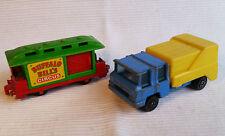2x alte Spielzeugautos/Vintage toy cars CORGI JUNIORS: Refuse Truck & Circus