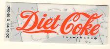 "Diet Coke Vending Machine Insert, Script Logo, 1 color bkgrnd, 1 3/8"" x 3 3/8"""