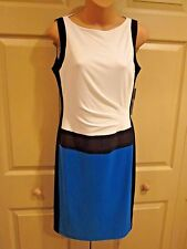 Women's DRESS SIZE 6 RALPH LAUREN COLOR BLOCKED BODY CON DRESS *SLICK*