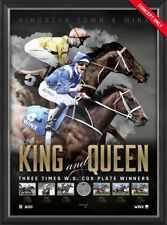 WINX AND KINGSTON TOWN COX PLATE PRINT FRAMED THE KING AND QUEEN OF THE TURF