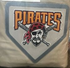 Pottery Barn Teen Pittsburgh Pirates FULL QUEEN duvet khaki MLB BASEBALL patch