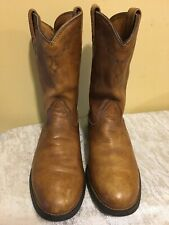 ARIAT HERITAGE BROWN COWHIDE ROUND TOE ROPER COWGIRL BOOTS #10005967 WOMEN'S 8.5