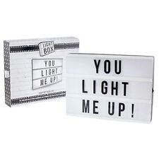 Caja de luz cinematográfica personalizar A4 Tamaño Carta Caja Tablón de mensajes de texto Decoración