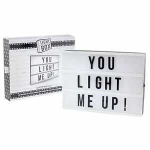 Cinematic Light Up Box Customize A4 Size Text Letter Box Message Board Decor