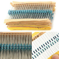 3120pcs 156 Values 1 ohm - 10M ohm 1/4W 1% Metal Film Resistors Assortment Kits