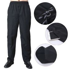 567f38b99eb1c2 Men Chef Loose Pants Stretch Drawstring Waist Restaurant Cook Uniform  Trousers