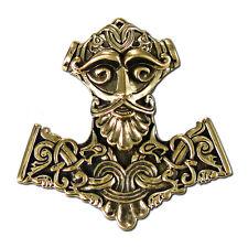 Bronze Thors Hammer Mjolnir Pendant Dryad Design | Asatru Norse Viking Runes