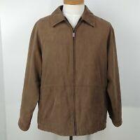 Weatherproof Garment Company Brown Full Zip Coat Jacket Mens Size L