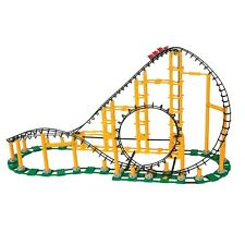 CDX Blocks Roller Coaster Building Block Sets - Toy Rollercoaster Model Kits -