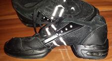 Skazz Sansha Flight Sz LM dance black suede mesh shoes Hip-hop jazz hardly worn