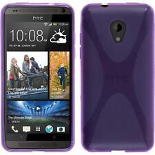 Silikon Hülle für HTC Desire 700 lila X-Style + 2 Schutzfolien