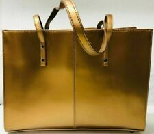 Wilson's Leather Ladies Gold Laptop Briefcase Tote Bag Purse Inside Sleeve