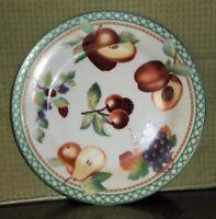 "Sakura ULTRA Porcelain ""Fruitasia"" 1995 Sue Zipkin Dessert/Salad/Bread 8"" Plate"