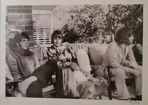 SIGNED Beatles in India 1968 Ringo Paul McCartney John Lennon Patti Boyd photo