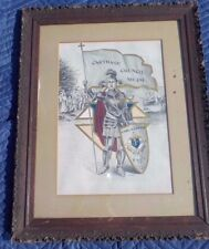 Knights Of Columbus 1905 Charter Framed Carthage Council No 291 Signed