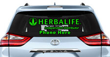 2 x Custom Herbalife Sign Car Window Decal Sticker Decals