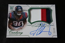 2014 PANINI NATIONAL TREASURES FOOTBALL JADEVEON CLOWNEY AUTO JERSEY RC CARD!