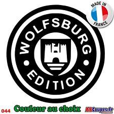 Sticker Autocollant Wolfsburg Edition 20cm - Volkswagen WV Golf Cox - 044