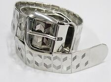Mens Belt Shiny Silver on mesh Jeans trousers fashion Not Armani Versace