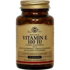 Vitamin E 100 IU Mixed Solgar 100 Softgel