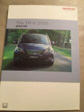 Honda FR-V Car Price List - 2006
