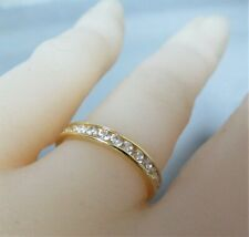 14ct  Gold & Moissanite Stacking / Eternitiy Ring. Size L.              xeod.
