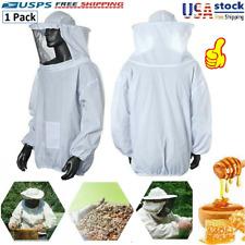 Beekeeping Jacket Equipment Veil Bee Keeping Cotton Suit Hat Pull Over Smock New