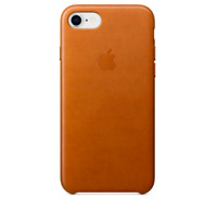 iPhone SE 2 / 8 / 7 (4.7) Apple Echt Original Leder Schütz Hülle - Sattel braun