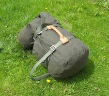 Leather Heavy duty genuine army carry handle cargo luggage webbing straps