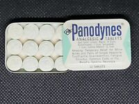 Vintage Medicine Tin: Panodynes Analgesic 12 tablets, Aspirin, full tin