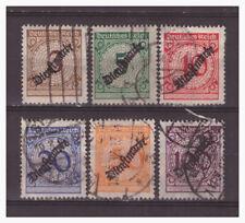Deutsches Reich Sammlung Dienstmarken Mi.99-104 komplett gestempelt