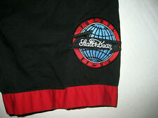 Red Black Mens Stall & Dean Button Front Short Sleeve Shirt Futbol EE UU Patch