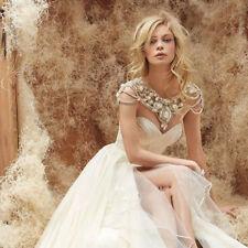 Rhinestone Wedding Dresses Jackets Crystal Beads Cape Custom Bridal Boleros 2018