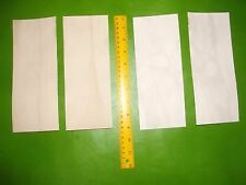 KANGAROO TAIL LEATHER STRIP VEG TANNED 4 pcs 230mm x 90mm - strop, craft, band