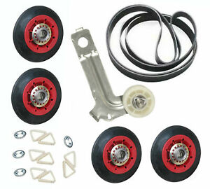 W10314173, W10547292, W10136934 Rollers Pulley Belt For Maytag Dryer Kit