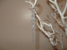5 x Christmas Tree unique Bespoke Decoration crystal Icicle Bauble hanging clear