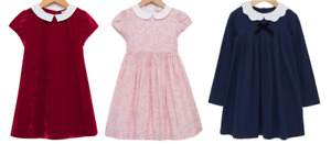 TROTTERS GIRLS DRESS - RED MADELINE/PINK CATHERINE & NAVY ANNA PETAL DRESS - New
